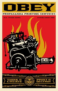 Print And Destroy Limited Edition Print by Shepard Fairey