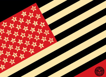 Mayday Flag Limited Edition Print by Shepard Fairey