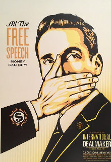 Free Speech Limited Edition Print by Shepard Fairey