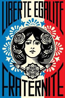 Liberté Egalité Fraternité Limited Edition Print - Shepard Fairey