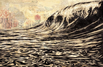 Dark Wave Limited Edition Print by Shepard Fairey