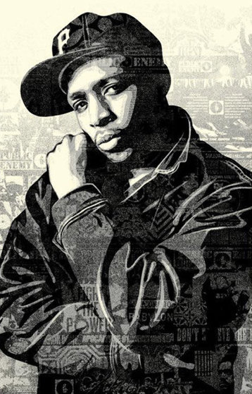 Chuck D Black Steel  Limited Edition Print by Shepard Fairey