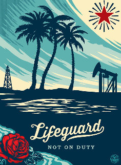 Lifeguard Not on Duty 2014 Limited Edition Print - Shepard Fairey