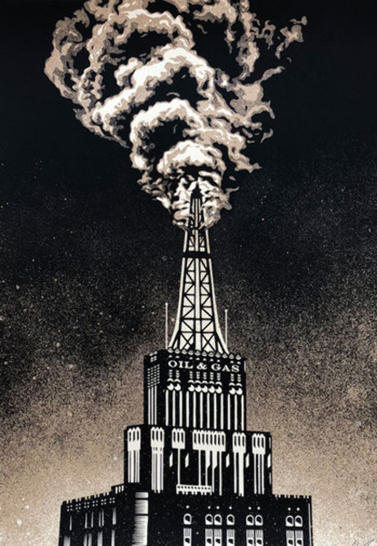 Oil And Gas Building 2014 Limited Edition Print by Shepard Fairey