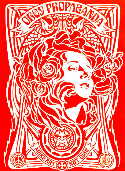 Nouveau Red 2006 Limited Edition Print by Shepard Fairey
