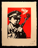 Chinese Soldiers Letterpress AP 2014 Limited Edition Print by Shepard Fairey  - 1