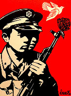 Chinese Soldiers Letterpress AP 2014 Limited Edition Print by Shepard Fairey  - 0