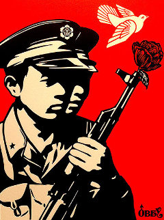 Chinese Soldiers Letterpress AP 2014 Limited Edition Print by Shepard Fairey