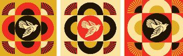 Dove Geometric Set of 3 Limited Edition Print - Shepard Fairey