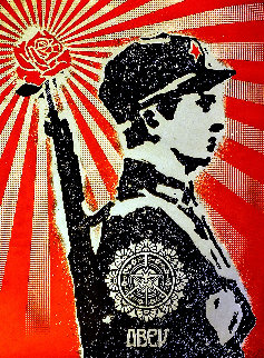 Rose Soldier 2008 Limited Edition Print - Shepard Fairey