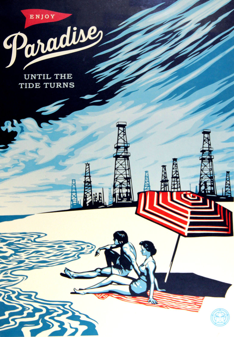 Paradise Until the Tide Turns Limited Edition Print by Shepard Fairey
