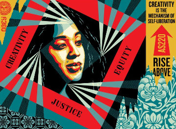 Creativity, Equity, Justice 2019 Limited Edition Print by Shepard Fairey