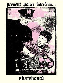 Prevent Police Boredom 2018 Limited Edition Print - Shepard Fairey