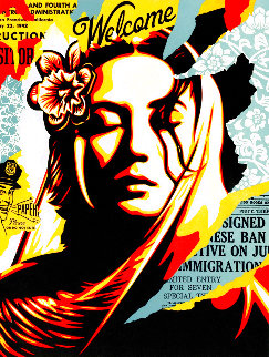 Welcome Visitor 2020 Limited Edition Print - Shepard Fairey