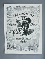 Freedom of Choice Stencil 2017 Limited Edition Print by Shepard Fairey  - 1
