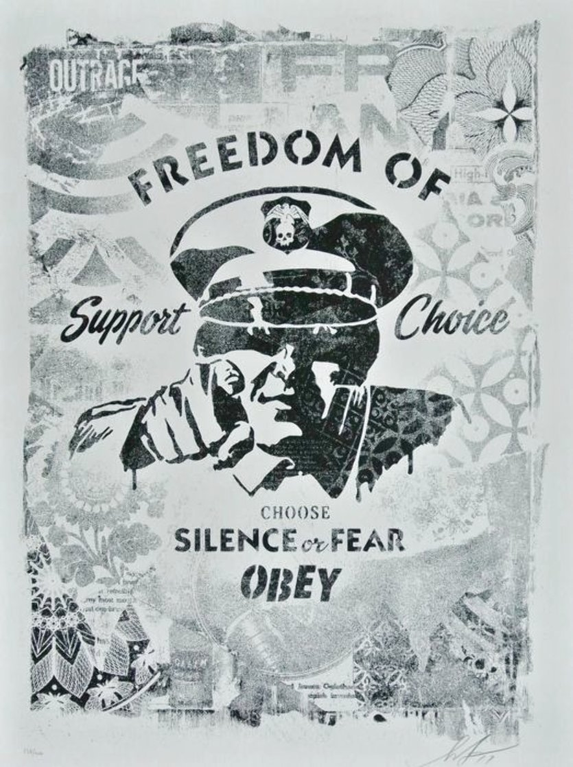 Freedom of Choice Stencil 2017 Limited Edition Print by Shepard Fairey
