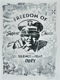 Freedom of Choice Stencil 2017 Limited Edition Print - Shepard Fairey