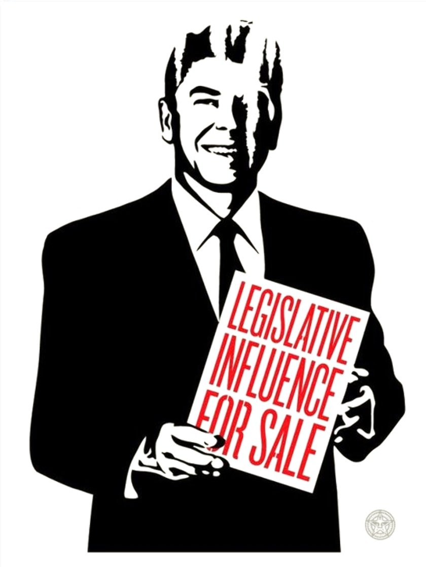 Legislative Influence For Sale 2011 Limited Edition Print by Shepard Fairey