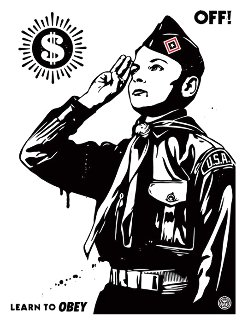 Learn to Obey 2014 Limited Edition Print - Shepard Fairey