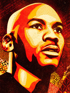 Michael Jordan 2009 Limited Edition Print - Shepard Fairey