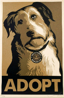 Adopt Gold 2009 Limited Edition Print - Shepard Fairey