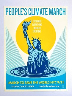 People's Climate March 2014 Limited Edition Print - Shepard Fairey