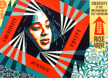 Creativity, Equity, Justice 2019 Limited Edition Print - Shepard Fairey