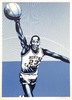Michael Jordan Unc Limited Edition Print - Shepard Fairey