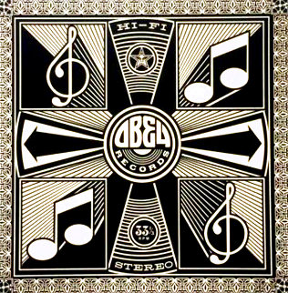 Music Note - Hi-Fi Stereo Records 2011 Limited Edition Print - Shepard Fairey