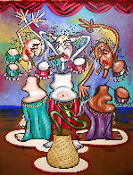 Smoking Belly Dancers 2010 51x39 Super Huge Original Painting by Anthony Falbo - 0