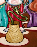 Smoking Belly Dancers 2010 51x39 Super Huge Original Painting by Anthony Falbo - 4