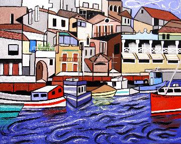 Marseille France 2013 24x30 Original Painting - Anthony Falbo