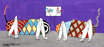 Artificial Intelligence Dog And Cat 2019 11x24 Works on Paper (not prints) - Anthony Falbo