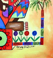 Ya Mon 2, No Steal Drums 2010 50x40 Huge Original Painting by Anthony Falbo - 4