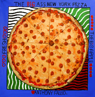 Big Ass New York Pizza 2014 50x50 Huge Original Painting - Anthony Falbo