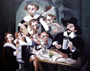 17th Century Cadaver Conspiracy 2008 24x30 Original Painting - Anthony Falbo