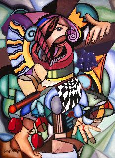 Sacrifice of the Lamb 2001 40x30 Huge Original Painting - Anthony Falbo