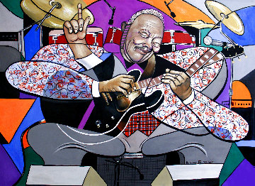 King of the Blues 2015 48x69 Huge Original Painting - Anthony Falbo