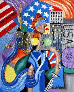 Lady Justice 2021 30x24 Original Painting - Anthony Falbo