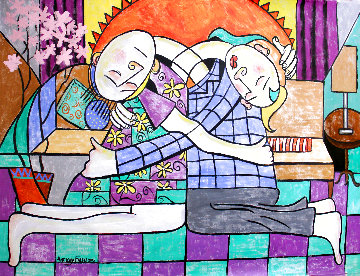 Forgiveness 2015 59x69 Huge Original Painting - Anthony Falbo