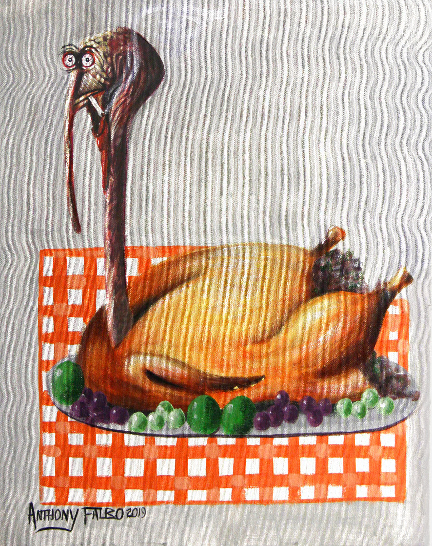 Baked Turkey 2019 20x16 Original Painting by Anthony Falbo