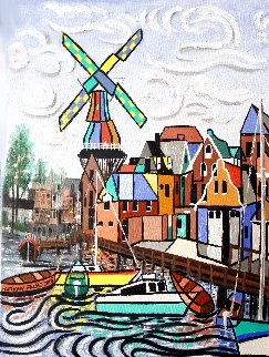 Holland, Not Just Tulips And Windmills 2016 24x18 Original Painting - Anthony Falbo