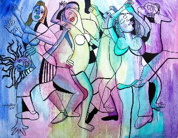 Lets Dance 2018 69x77 Huge Original Painting - Anthony Falbo