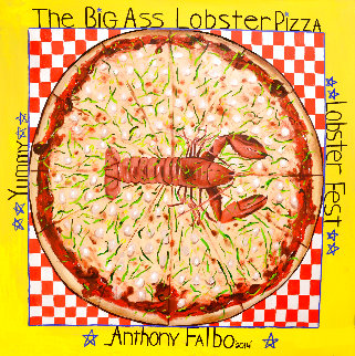Big Ass Lobster Pizza 2014 50x50 Original Painting - Anthony Falbo