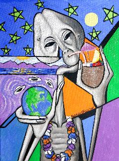 Illegal Alien 2016 30x24 Original Painting - Anthony Falbo