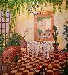 Interior With Greek Sculpture 1998 39x38 Original Painting - Fanch Ledan