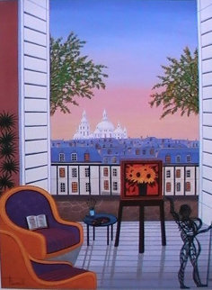 Balcony Over Montmartre 2010 Limited Edition Print by Fanch Ledan