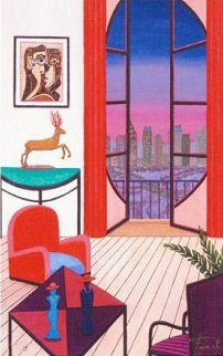 Balcony Over Manhattan 2010 Limited Edition Print by Fanch Ledan