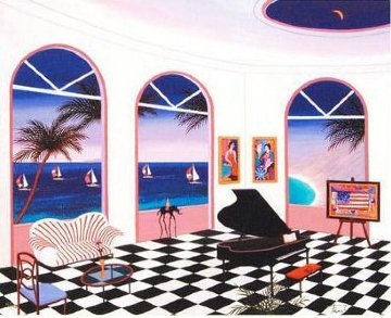 Interior With Checkered Floor 2010 Limited Edition Print by Fanch Ledan