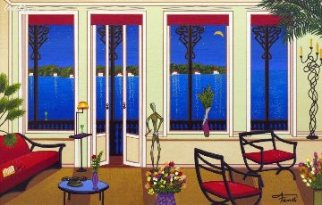 Balcony Over Bahia Limited Edition Print - Fanch Ledan